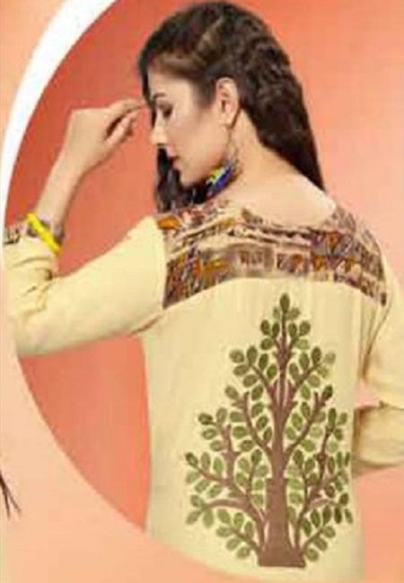 Beige Color Embroidered Designer Kurti (She Kurti 538)