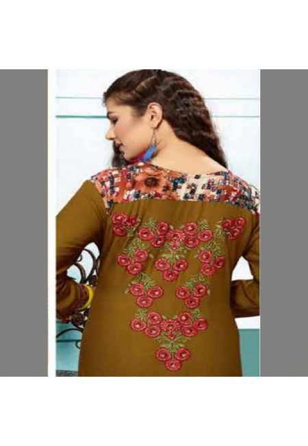 Pista Green Color Embroidered Designer Kurti (She Kurti 536)