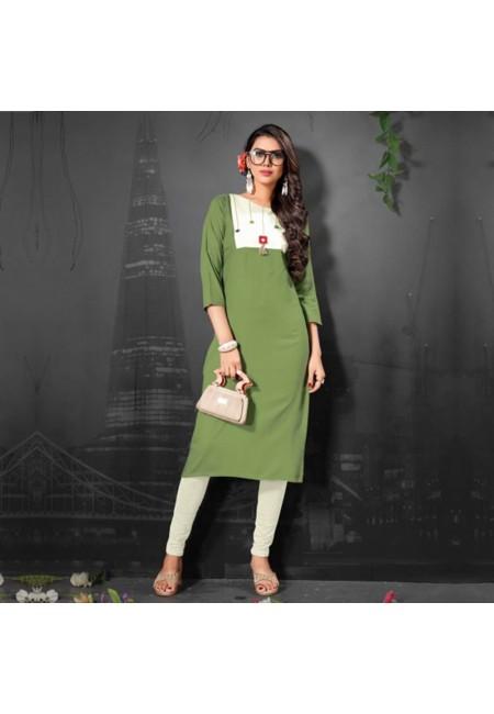 Pista Green Color Fancy Kurti (She Kurti 512)
