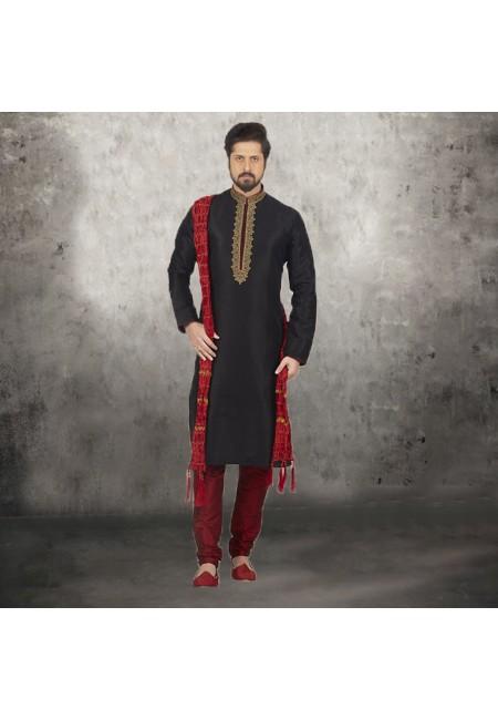 Black Color Banarasi Silk Punjabi Set (She SIlk Punjabi 536)
