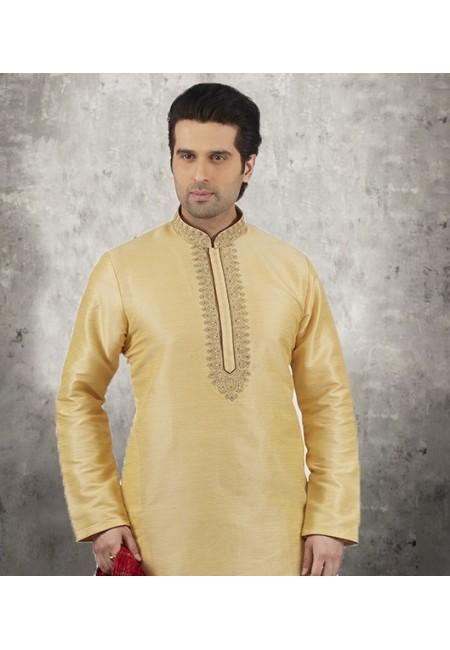 Beige Color Banarasi Silk Punjabi Set (She SIlk Punjabi 543)
