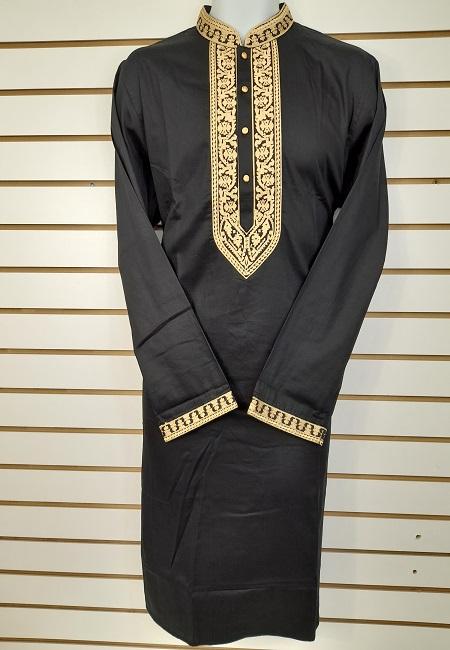 Black Color Cotton Punjabi (She Cotton Punjabi 545)