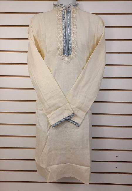 Cream Color Cotton Punjabi (She Cotton Punjabi 547)