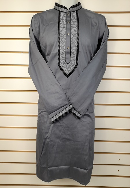 Deep Grey Color Cotton Punjabi (She Cotton Punjabi 548)