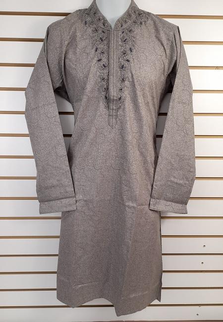 Grey Color Cotton Embroidery Punjabi (She Boutique Punjabi 535)