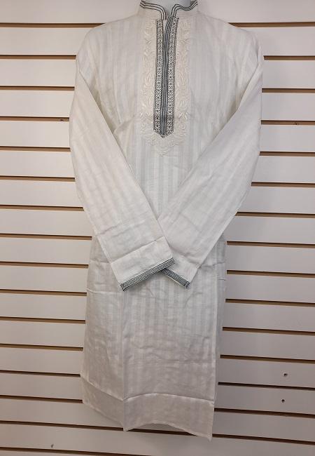 White Color Cotton Punjabi (She Cotton Punjabi 546)