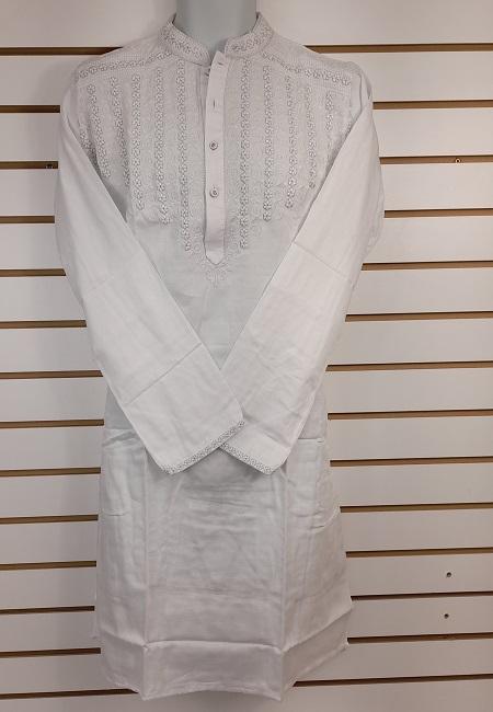 White Color Cotton Embroidery Punjabi (She Boutique Punjabi 529)