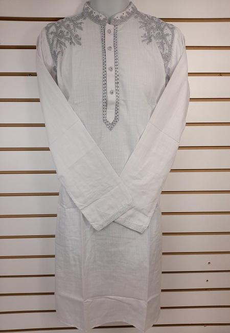 White Color Cotton Embroidery Punjabi (She Boutique Punjabi 530)