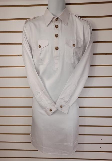 White Color Pathani Kurta Set (She Boutique Punjabi 526)