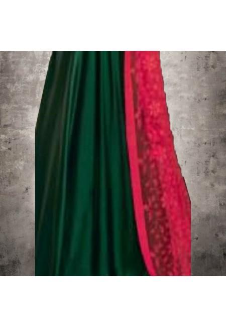 Bottle Green Color Designer Floor Touch Salwar Suit (She Salwar 547)