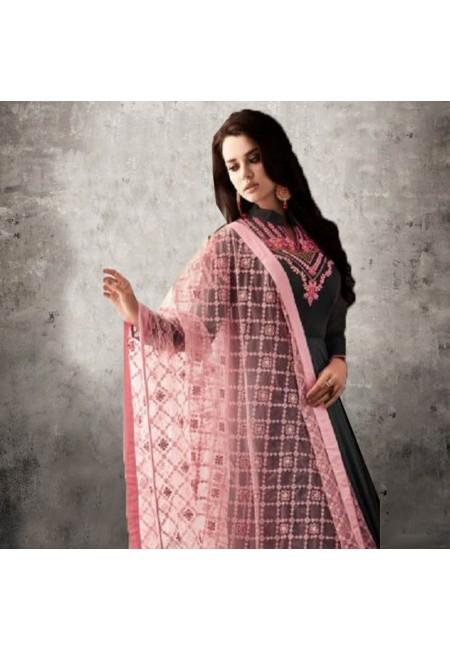 Black Color Designer Floor Touch Salwar Suit (She Salwar 548)