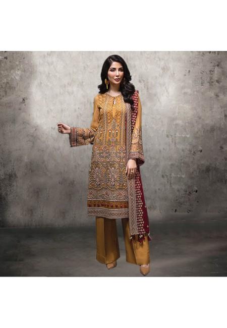 Mustard Color Embroidery Salwar Suit (She Salwar 538)