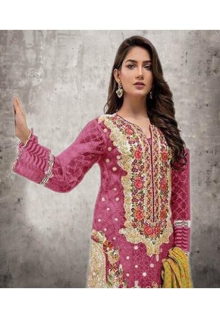Fuchsia Pink Color Embroidery Salwar Suit (She Salwar 532)