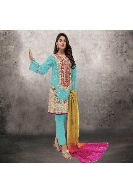 Sea Green Color Embroidery Salwar Suit (She Salwar 535)