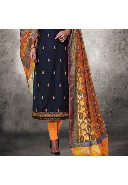 Navy Blue Color Designer Salwar Suit (She Salwar 551)