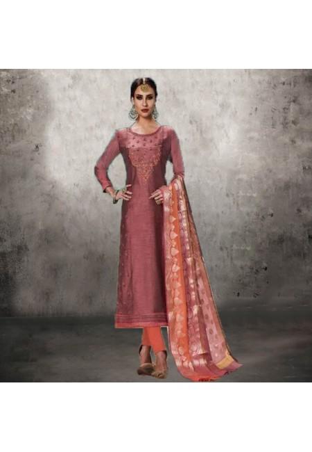 Rose Gold Color Designer Salwar Suit (She Salwar 552)