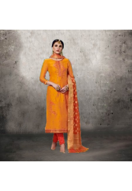 Orange Color Designer Salwar Suit (She Salwar 554)