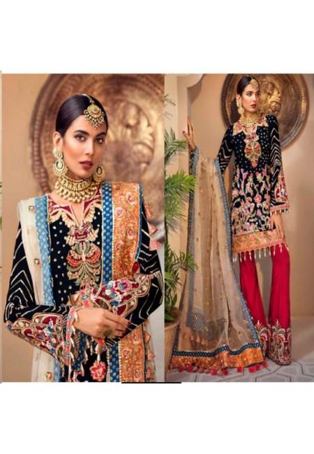 Black Color Designer Net Salwar Set (She Salwar 584)