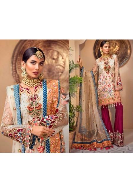 Beige Color Designer Net Salwar Set (She Salwar 587)