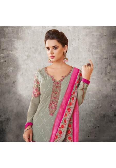 Deep Beige Color Designer Salwar Set (She Salwar 576)