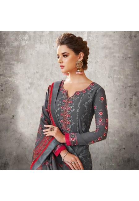 Grey Color Designer Salwar Suit Set (She Salwar 577)