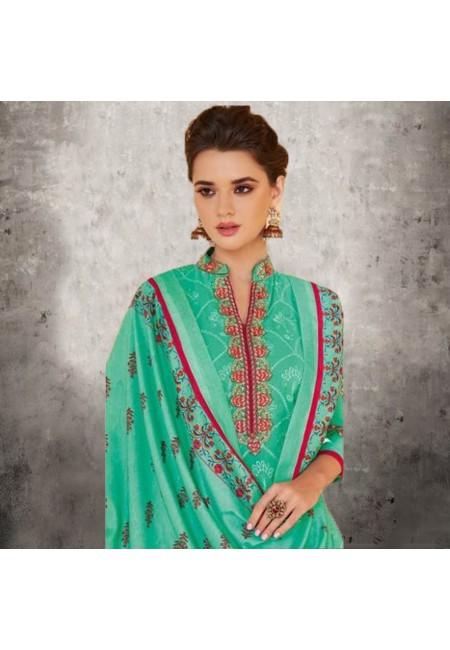 Deep Sea Green Color Designer Salwar Suit Set (She Salwar 579)