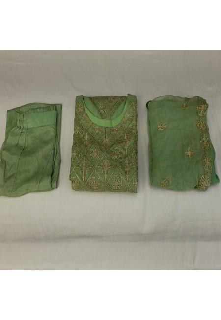 Olive Green Color Designer Pakistani Salwar Suit Set (She Salwar 570)