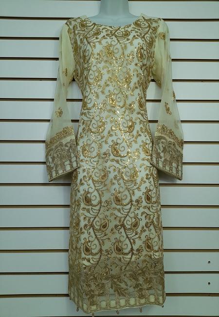 Off White Color Pakistani Designer Salwar Suit Set (She Salwar 571)
