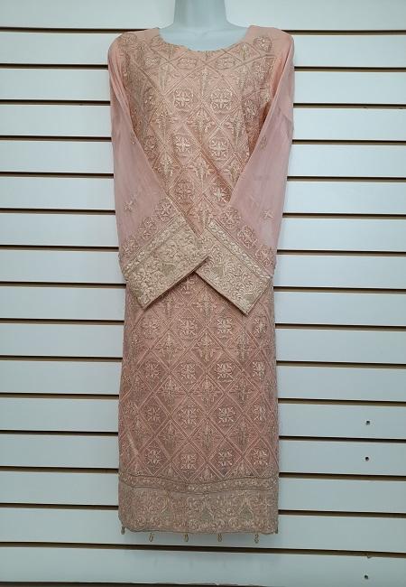 Peach Color Pakistani Designer Salwar Suit Set (She Salwar 572)