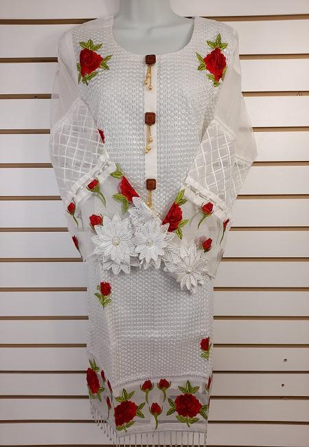 White Color Pakistani Designer Salwar Suit Set (She Salwar 573)