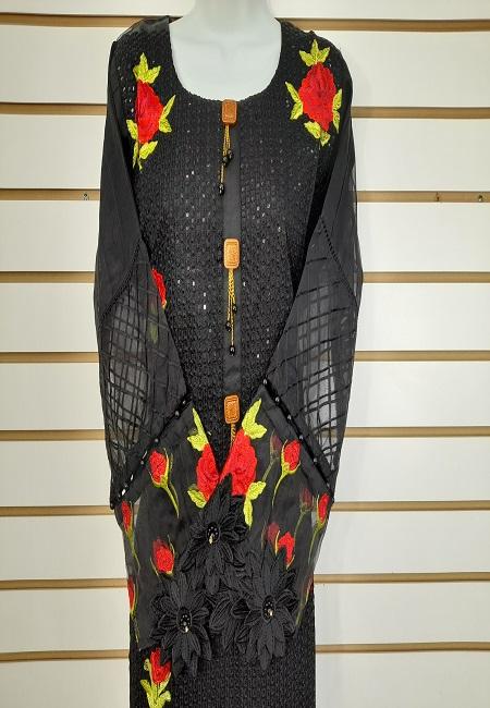 Black Color Pakistani Designer Salwar Suit Set (She Salwar 574)