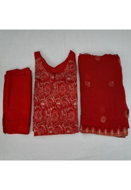 Red Color Pakistani Designer Salwar Suit Set (She Salwar 568)