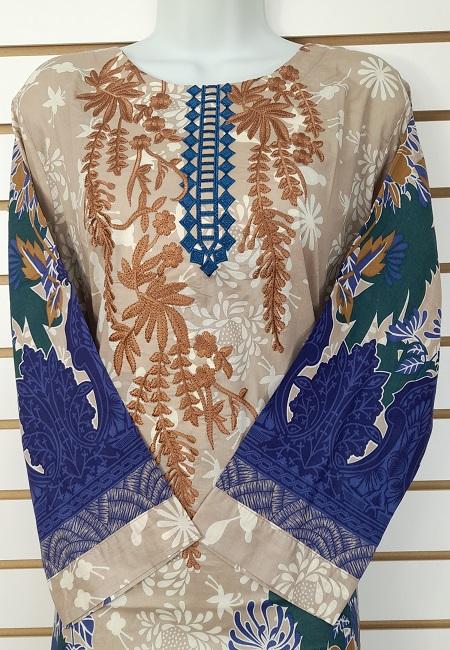Navy Blue Color Luxury Pakistani Lawn Suit (She Salwar 566)