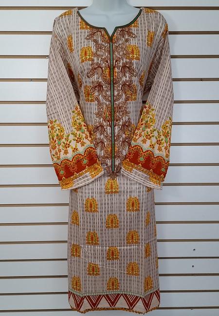 Light Beige Color Luxury Pakistani Lawn Suit (She Salwar 567)