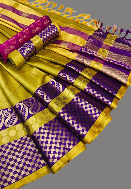 Mustard Color Fancy Silk Saree (She Saree 644)