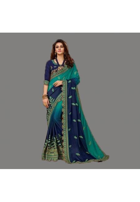 Blue Color Designer Silk Saree (She Saree 594)