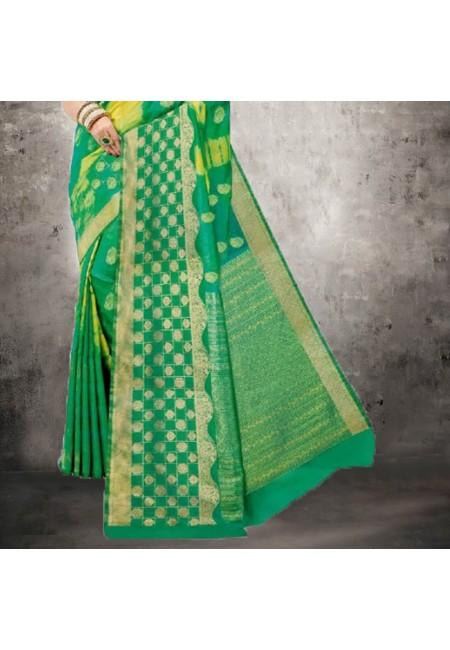 Green Color Bhagalpuri Silk Saree (She Saree 611)