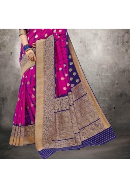 Magenta Color Bhagalpuri Silk Saree (She Saree 614)