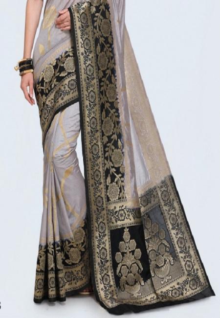 Grey Color Khaddi Silk Saree (She Saree 620)