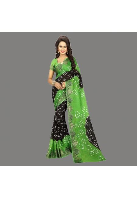 Black Color Bandhani Printed Georgette Saree (She Saree 680)
