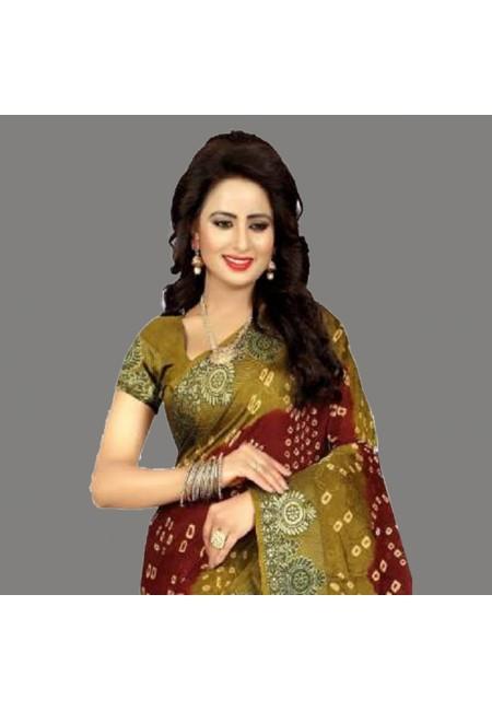 Maroon Color Bandhani Printed Georgette Saree (She Saree 682)