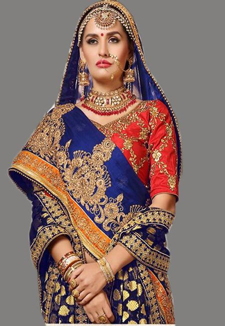 Deep Rpyal Blue Color Designer Chiffon Saree (She Saree 636)