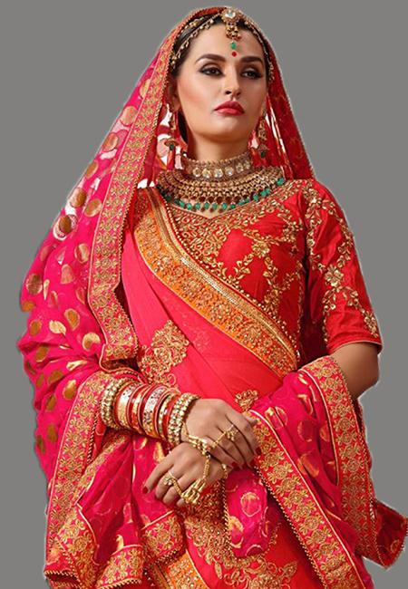 Peach Pink Color Designer Chiffon Saree (She Saree 640)