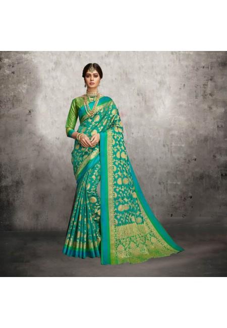 Green Color Banarasi Silk Saree (She Saree 605)