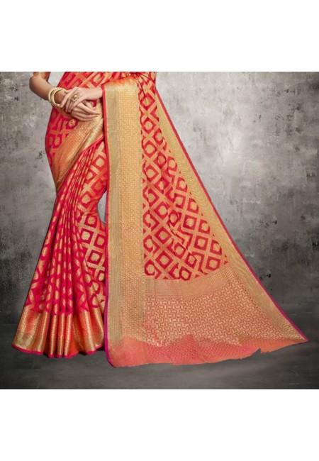 Red Color Banarasi Silk Saree (She Saree 610)