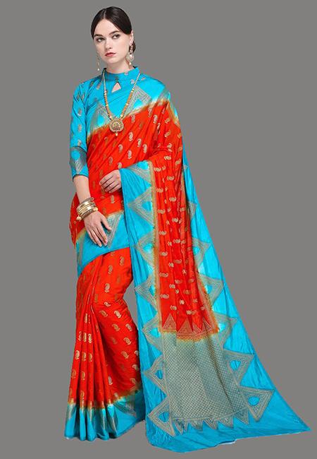 Red Color Madurai Silk Saree (She Saree 625)