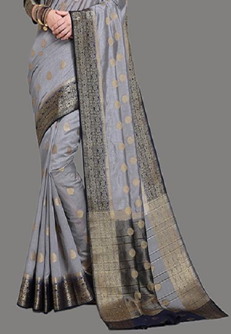 Grey Color Madurai Silk Saree (She Saree 626)