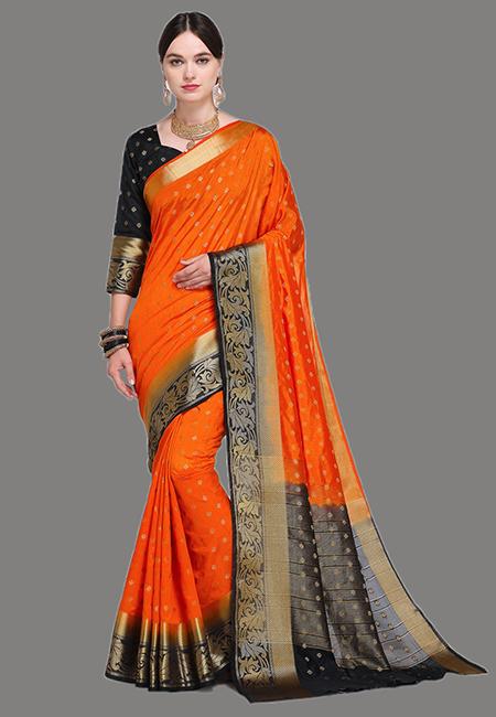 Orange Color Madurai Silk Saree (She Saree 628)
