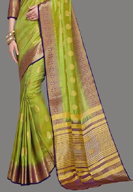Pista Green Color Madurai Silk Saree (She Saree 630)