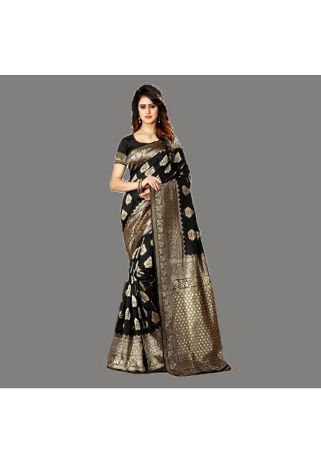 Black Color Designer Soft Banarasi Silk Saree (She Saree 656)